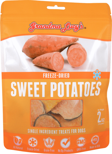 Grandma Lucy's Freeze-Dried Singles Sweet Potatoes Dog Treats