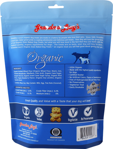 Grandma Lucy's - Organic Blueberry Oven Baked Dog Treats