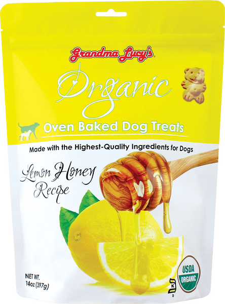 Grandma Lucy's Organic Lemon Honey Oven Baked Dog Treats