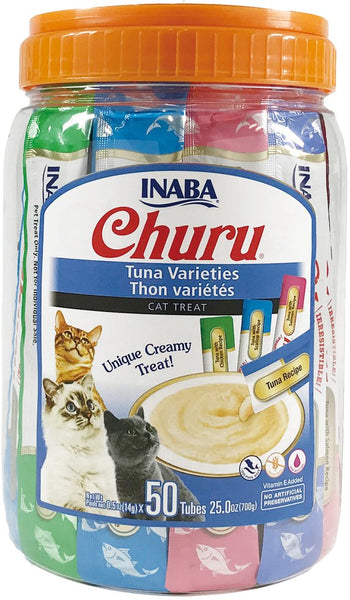 Inaba - Churu Purees - Tuna Varieties 50 Tubes (Treat for Cats)