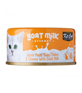 Kit Cat - White Meat Tuna Flakes & Cheese With Goat Milk (Wet Cat Food)