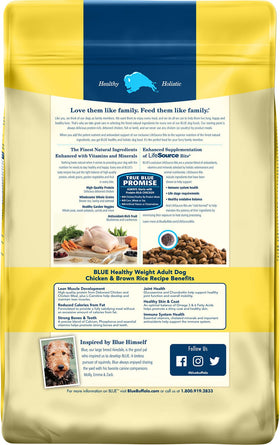 Blue Buffalo - Life Protection Formula - Healthy Weight Chicken & Brown Rice Recipe (Adult Dry Dog Food)