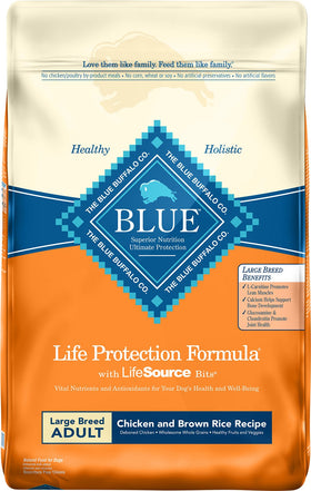 Blue Buffalo - Life Protection Formula - Chicken & Brown Rice Recipe (Large Breed Adult Dry Dog Food)