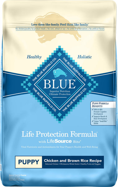 Blue Buffalo - Life Protection Formula - Chicken & Brown Rice Recipe (Puppy Dry Dog Food) - ARMOR THE POOCH