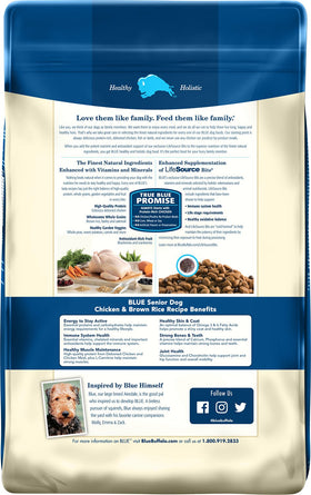 Blue Buffalo - Life Protection Formula Chicken & Brown Rice Recipe (Senior Dry Dog Food)