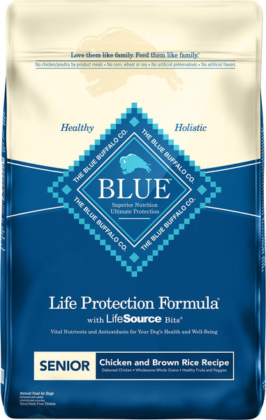 Blue Buffalo - Life Protection Formula Chicken & Brown Rice Recipe (Senior Dry Dog Food) - ARMOR THE POOCH