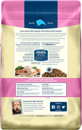Blue Buffalo - Life Protection Formula - Chicken & Brown Rice Recipe (Small Breed Adult Dry Dog Food)