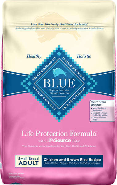 Blue Buffalo - Life Protection Formula - Chicken & Brown Rice Recipe (Small Breed Adult Dry Dog Food) - ARMOR THE POOCH