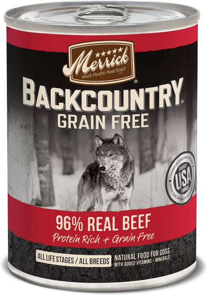 Merrick - Backcountry 96% Real Beef (Grain Free Wet Dog Food)