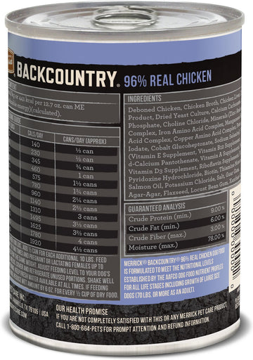 Merrick - Backcountry 96% Real Chicken (Grain Free Wet Dog Food)