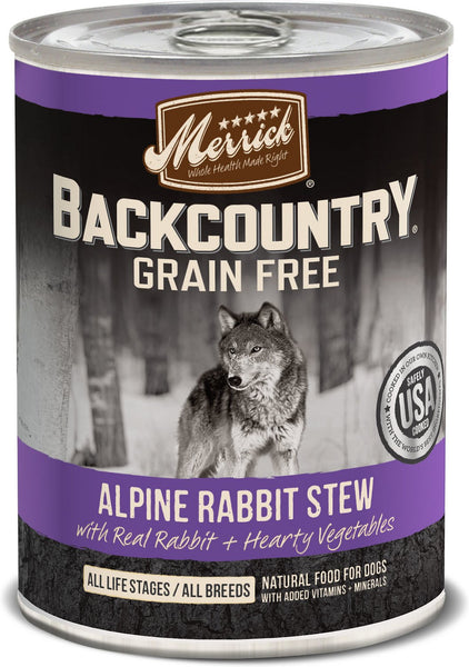 Merrick - Backcountry Alpine Rabbit Stew (Grain Free Wet Dog Food)