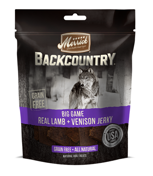 Merrick - Backcountry Big Game Real Lamb & Venison Jerky - Grain Free Treat for Adult Dogs