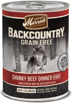 Merrick - Backcountry Chunky Beef Dinner In Gravy (Grain Free Wet Dog Food)