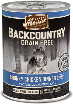Merrick - Backcountry Chunky Chicken Dinner In Gravy (Grain Free Wet Dog Food)