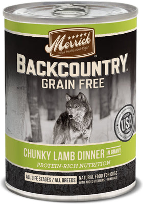 Merrick - Backcountry Chunky Lamb Dinner In Gravy (Grain Free Wet Dog Food)