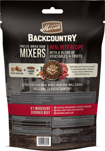 Merrick - Backcountry Freeze Dried Raw Meal Mixer - Grain Free Real Beef Recipe (Dog Food)