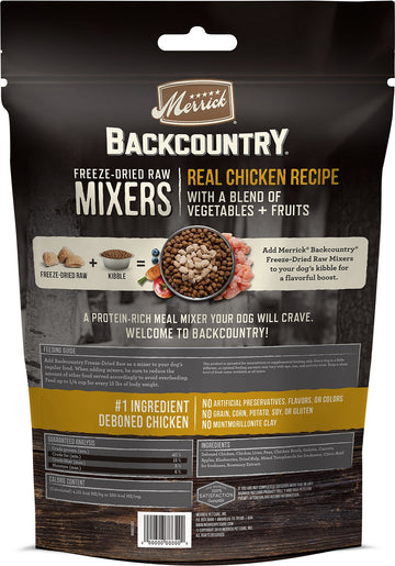 Merrick - Backcountry Freeze Dried Raw Meal Mixer - Grain Free Real Chicken Recipe (Dog Food)
