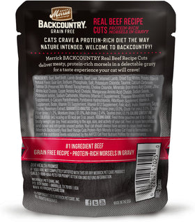 Merrick - Backcountry Real Beef Recipe Cuts (Grain Free Adult Wet Cat Food)