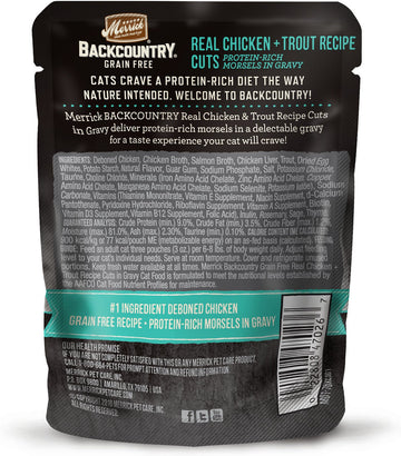 Merrick - Backcountry Real Chicken & Trout Recipe Cuts (Grain Free Adult Wet Cat Food)