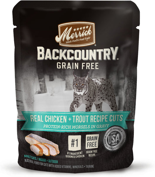 Merrick - Backcountry Grain Free Real Chicken & Trout Recipe Cuts (Grain Free Adult Wet Cat Food)
