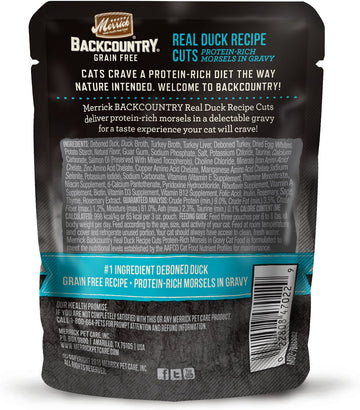 Merrick - Backcountry Real Duck Recipe Cuts (Grain Free Adult Wet Cat Food)
