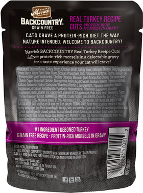 Merrick - Backcountry Real Turkey Recipe Cuts (Grain Free Adult Wet Cat Food)