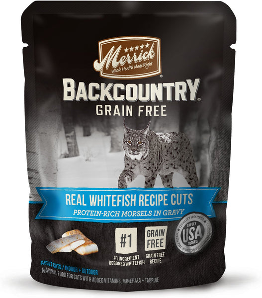 Merrick - Backcountry Grain Free Real Whitefish Recipe Cuts (Grain Free Adult Wet Cat Food)