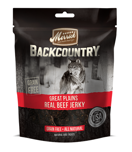 Merrick - Backcountry Great Plains Real Beef Jerky - Grain Free Treat for Adult Dogs