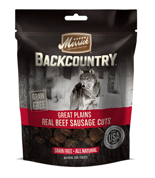 Merrick - Backcountry Great Plains Real Beef Sausage Cuts - Grain Free Treat for Adult Dogs