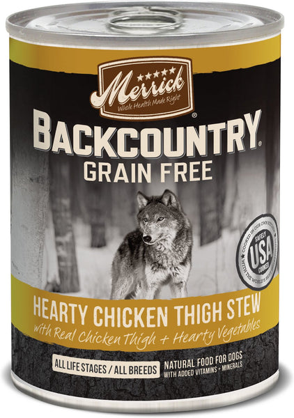 Merrick - Backcountry Hearty Chicken Thigh Stew (Grain Free Wet Dog Food)