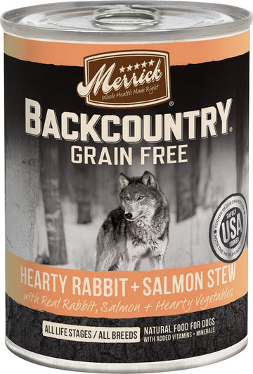 Merrick - Backcountry Hearty Rabbit & Salmon Stew (Grain Free Wet Dog Food)