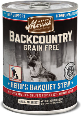Merrick - Backcountry Hero's Banquet Stew (Grain Free Wet Dog Food)