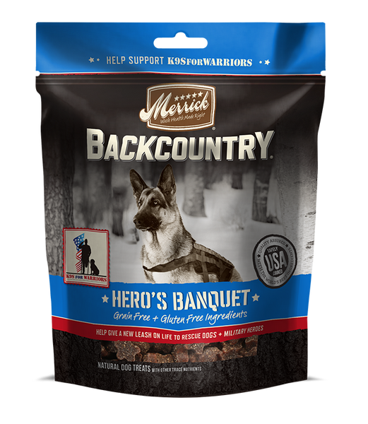 Merrick - Backcountry Hero's Banquet Treats - Grain Free Treat for Adult Dogs