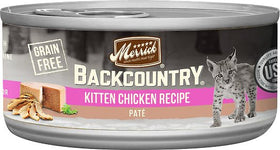 Merrick - Backcountry Kitten Chicken Recipe Paté (Grain Free Wet Kitten Food)