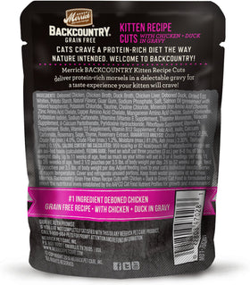 Merrick - Backcountry Kitten Recipe Cuts (Grain Free Wet Kitten Food)