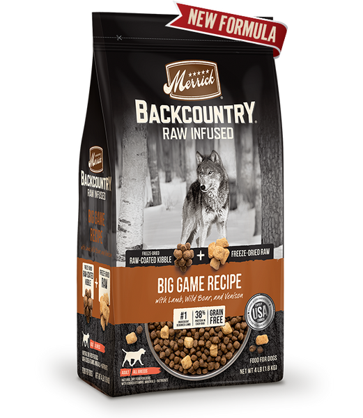 Merrick - Backcountry Raw Infused Big Game Recipe (Grain Free Adult Dry Dog Food)