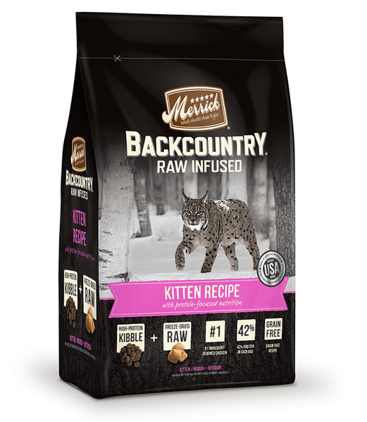 Merrick - Backcountry Raw Infused Kitten Recipe (Grain Free Adult Dry Cat Food)