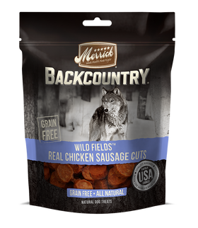 Merrick - Backcountry Wild Fields Real Chicken Sausage Cuts - Grain Free Treat for Adult Dogs