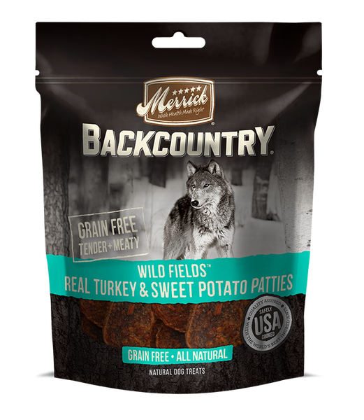 Merrick - Backcountry Wild Fields Real Turkey & Sweet Potato Patties - Grain Free Treat for Adult Dogs