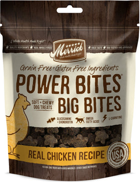 Merrick - Big Bites - Real Chicken Recipe - Grain-Free Treat for Adult Dogs