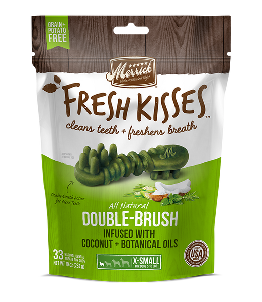 Merrick - Fresh Kisses Double Brush Coconut & Botanicals Oil - For Extra Small Dogs