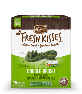 Merrick - Grain-Free Fresh Kisses Double Brush Coconut & Botanicals Oil - Extra Small Dogs