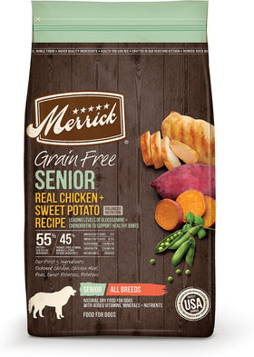 Merrick - Grain-Free Real Chicken + Sweet Potato Recipe (Senior Dry Dog Food)