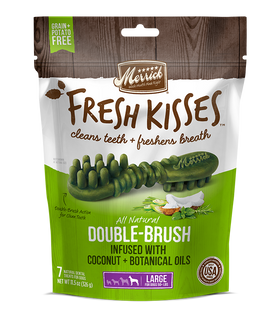 Merrick - Grain-Free Fresh Kisses Double Brush Coconut & Botanicals Oil - Large Dogs