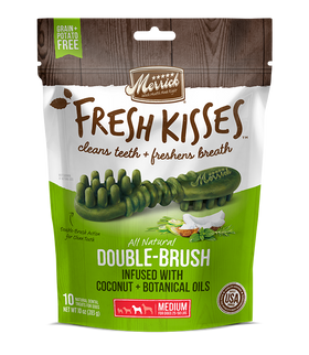Merrick - Grain-Free Fresh Kisses Double Brush Coconut & Botanicals Oil - Medium Dogs