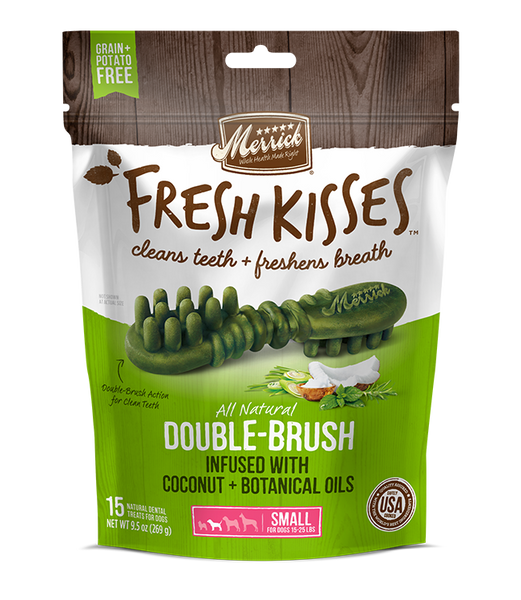 Merrick - Grain-Free Fresh Kisses Double Brush Coconut & Botanicals Oil - Small Dogs