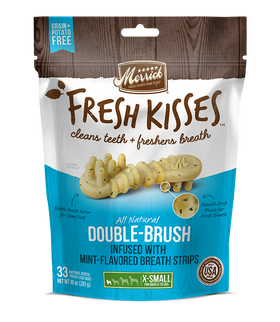 Merrick - Grain-Free Fresh Kisses Double Brush Mint Breath Strips - Extra Small Dogs