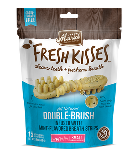Merrick - Grain-Free Fresh Kisses Double Brush Mint Breath Strips - Small Dogs