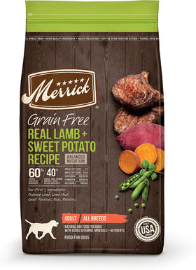 Merrick - Grain-Free Lamb + Sweet Potato Recipe (Adult Dry Dog Food)