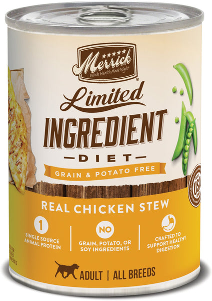 Merrick - Grain-Free Limited Ingredient Diet Real Chicken Stew (Wet Dog Food)